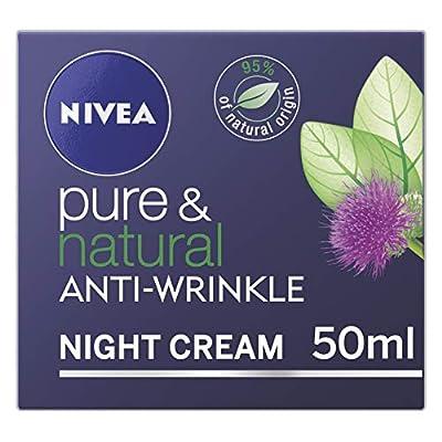 NIVEA Pure & Natural Anti-Wrinkle Night Face Cream, 50 ml