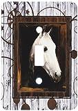 3dRose LLC lsp_127613_1 Vintage Horse Portrait From 1910 by Caspar Von Reth Restored with Western Background Single Toggle Switch
