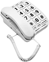 HePesTer P-011 Large Button Corded Phone for Elderly with Amplified Speakerphone Works in..