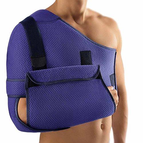 Bort OmoStabil Desault-Weste Schulter Arm Abduktionsorthese Schultergelenkstütze, blau, Gr. 2