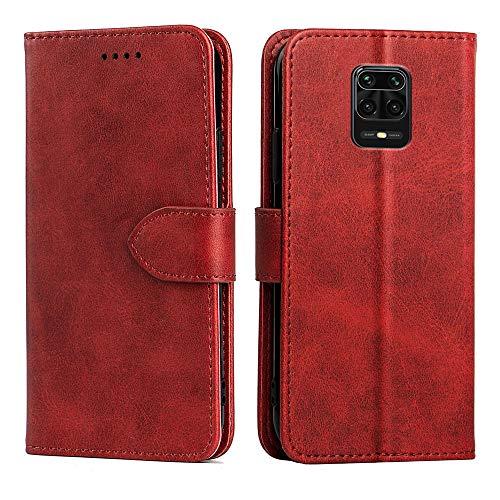 Xiaomi Redmi note 9S ケース 手帳型 Redmi note 9S 財布型 カバー カード収納 スタンド機能 高級PUレザー 耐衝撃 ケース 手帳 Redmi note 9S 全面保護カバー (Redmi note 9S, レッド)