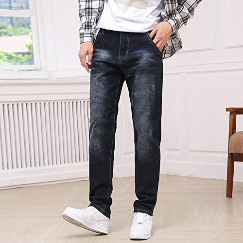 ShSnnwrl Bequem und weich Jeans Hose Herbst Winter Neue Herren Schwarz Grau Baumwolle Stretch Jeans Hochwertige Cat Whisker Scrat