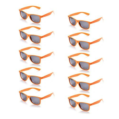 ONNEA 10 Paare Party Favors Sonnenbrille Set Sommer Kinder Damen (Orange 10-Pack)