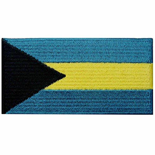 Bahamas Flagge Bahamische Inseln Nationales Emblem Bestickter Aufnäher zum Aufbügeln/Annähen