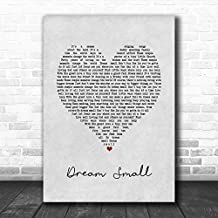 Josh Wilson Dream Small Grey Heart Song Lyric Wall Art Print Print Wall Decor Art Gifts Lovers Poster