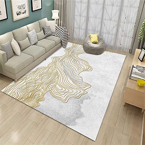 La alfombras Alfombra Escalera Alfombra Antideslizante Lavable con diseño de línea Amarilla Gris Alfombra Infantiles Adornos habitacion Juvenil 50*120CM