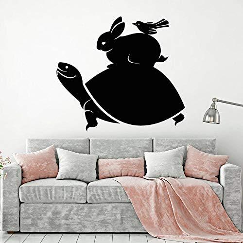 Muursticker dier-tattoo's muursticker schildpad konijn vogel patroon kinderen kamer kinderkamer slaapkamer speelruimte interieurdecoratie vinyl muursticker