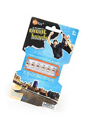 HEXBUG Tony Hawk Circuit Boards Battery (6-Pack)