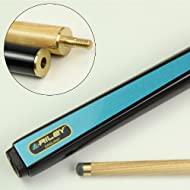 """An attractive 48"""" Riley Ash cue, ideal for junior players or home games tables - endorsed by the late Paul Hunter. A two piece cue with spiral center joint, suitable for both snooker and pool 9.5mm leather stick on tip with brass ferrule Ash shaft lo..."""