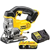 Dewalt DCS331N 18V XR Li-ion Cordless Jigsaw Body Only with 2 x 5.0Ah Batteries & Charger