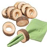 Healifty 10 Kreis Holz Serviette Ring DIY Basteln Kits Hochzeit Pary Tisch Ornament - 2