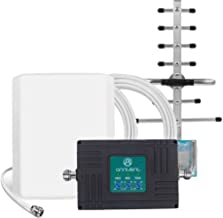 Cell Phone Signal Booster for AT&T T-Mobile 3G 4G LTE - Tri-Band ATT700/850/1900MHz Repeater Boost Voice & Data Signal for Home - Band 2/5/12/17 Amplifier kit with Panel/Yagi Antennas