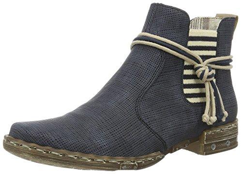 Rieker Damen Y1893 Chelsea Boots, Blau (atlantis/Beige/15), 38 EU