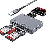 peinat SD Card Reader, 7-in-1 USB...