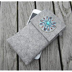 zigbaxx Handyhülle Filz Handytasche MAROC für iPhone 11/8/7/ X/Xs, iPhone 11 Pro Max 8/7 plus/Xs Max/XR/Smartphone-Hülle…