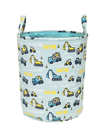 CLOCOR Storage Bin,Cute Storage Baskets,Cartoon Theme Laundry Hamper for Toy,Baby Clothing,Gift Baskets(Digger)