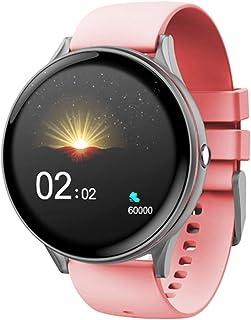 LTLJX Deportivo Reloj Fitness, Impermeable Inteligente Reloj con Pulsómetro, Monitor de Sueño, Calorías Podómetro Hombre Mujer Pulsera para iOS Android,Rosado