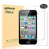 pinlu [2 Pack] Film Protection en Verre trempé écran Protecteur Vitre Pour Apple iPod Touch 4 Glass Protector Haute transparence, Super Résistant, sans Bulles d'air [0.26mm/9H]