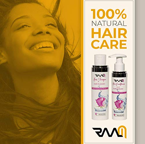 RAAM Hair Growth Accelerating Shampoo with Bulgarian Rose for Hair Stimulation and Renewal