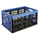 Acan Tontarelli - Caja Plegable de plástico 52 x 37 x 26 cm, 45 L. Contenedor, cesto Robusto para Almacenamiento de Documentos, jugue