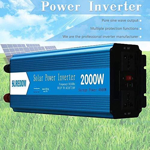 QJM AC convertidor de Coche De Onda sinusoidal Pura (800W 1000W 1500W 2000W) Inversor de energía del Coche 12V a 110V / 240 CC a CA del convertidor - Portátil Viaje de Campamento Carretera Debe Tener