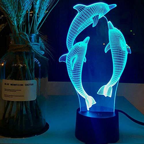 3D DelFine Optische Illusions Lampe 7 Farben Touch-Schalter Illusion Nachtlicht Für Schlafzimmer Home Decoration Hochzeit Geburtstag Weihnachten Valentine Geschenk