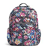 Vera Bradley Women's Signature Cotton Campus Backpack, Pretty Posies, One Size