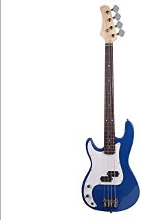 $126 » 4-String Acoustic Electric Bass Guitar 5 Color With 1 x Power Wire And 2 x Tools Blue