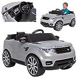 Feber- Range Rover Sport Coche eléctrico para niños 3 a 7 años de juguete, 6V, Color gris (Famosa 800010051)