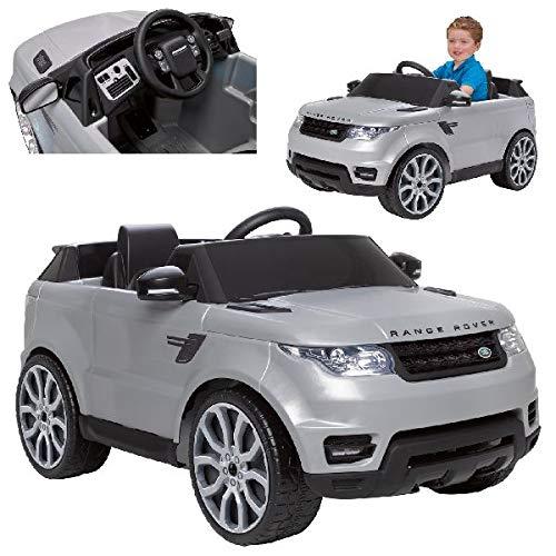 Feber- Range Rover Sport Land Coche eléctrico para niños 3 a 7 años de juguete, 6V, Color gris (Famosa 800010051)