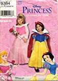 Simplicity Walt Disney Princess Costumes for Child - Snow White & Sleeping Beauty -...