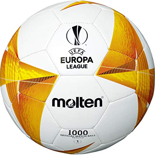 Molten Unisex's UEFA Europa League Official Replica 1000-20/21 Football, Yellow, Size 4
