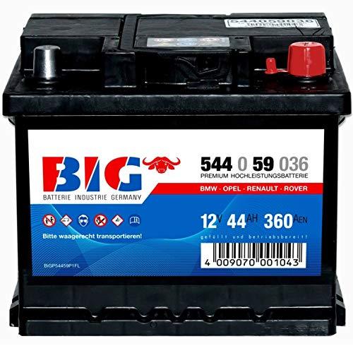 Autobatterie 12V 44Ah BIG Starterbatterie 544059036 statt 36Ah 41Ah 43Ah 45Ah