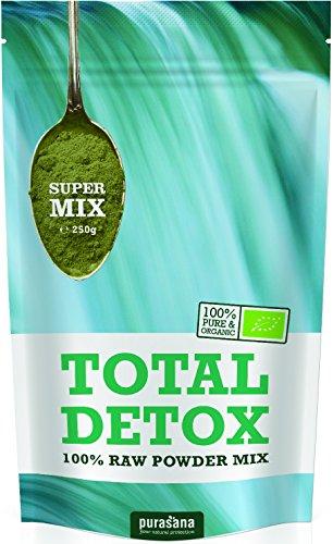 Purasana Total Grüne Bio Mischung 250g mit Spirulina, Chlorella, Gerstengras, Weizengras, Rohkakao,...