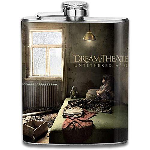 Dream Theater Outdoor Draagbare RVS Flagon Liquor Hip Flask Set