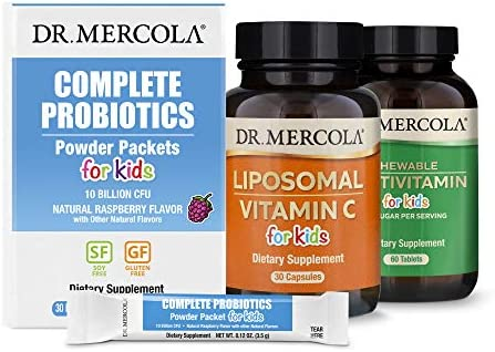 Dr Mercola Premium Kids Supplement Pack 30 Servings Chewable Multivitamin for Kids Complete product image