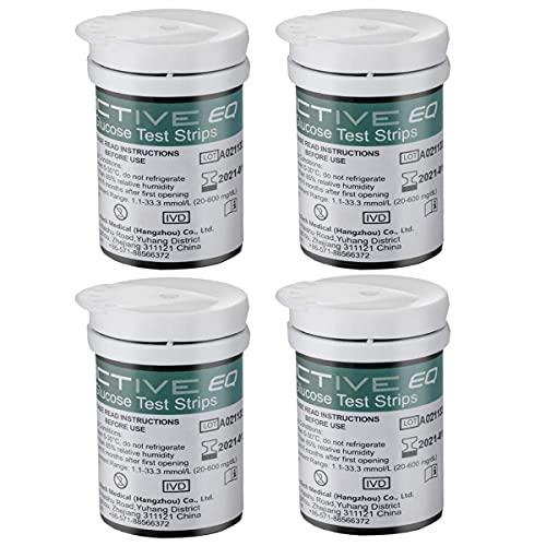 HARPIMER Glucosa en Sangre Kit Tiras de Prueba 100 Piezas de Monitor de azúcar en Sangre para Exactive EQ