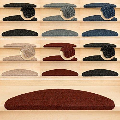 Kettelservice-Metzker Stufenmatten Treppenmatten Ramon® Halbrund - 5 aktuelle Farben - 15 STK. Bordeaux
