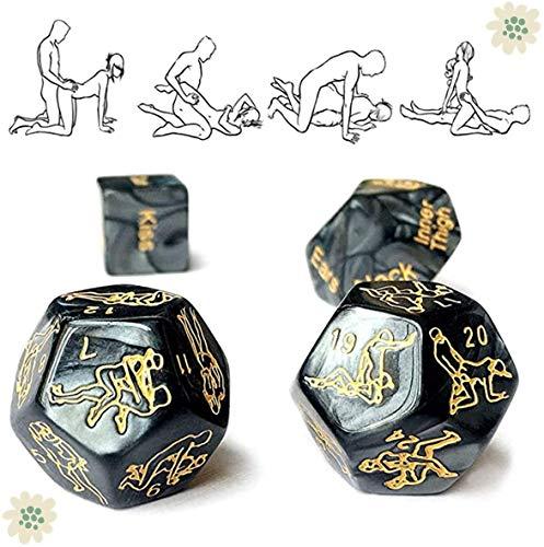 BUSI 4 stücke hochwertigem schwarzem marmor Spiel würfeln, gewinnen oder verlieren Spiele, familienspiele, Party Spiele