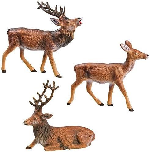 MAROLIN Group of 3 Deer, to 3.5 up to 4 in. Figures