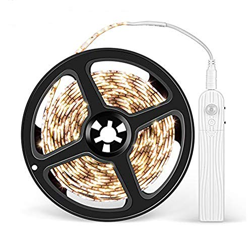 LEDテープ 人感センサーライト LED テープライト 長さ3M 電池式 防水 自動点灯消灯 貼り付け型 キッチン/階段/廊下/クローゼット/寝室など適用