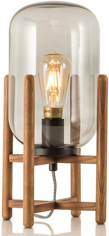 Einfaches Kreatives Retro- Wohnzimmerdekorationslampe-Ausgangsglas-Nachttischlampe Der Nordischen Lampe Schlafzimmer B07GRZ9DQH       Creative
