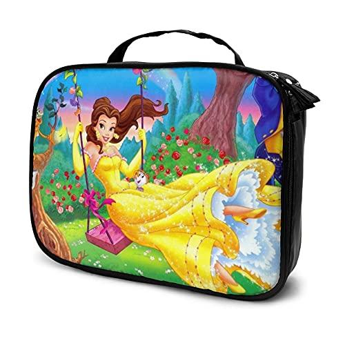Bolsa de cosméticos para mujer, bolsa de almacenamiento de múltiples compartimentos, bolsa de almacenamiento de artículos de tocador portátil, cepillo de cosméticos lindo