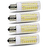 E11 led Bulb 75w 100w Halogen Bulbs Replacement, JD T4 e11 Mini Candelabra Base 110V 120V 130 Voltage Input Light Bulbs, Pack of 4 (Daylight 6000K)
