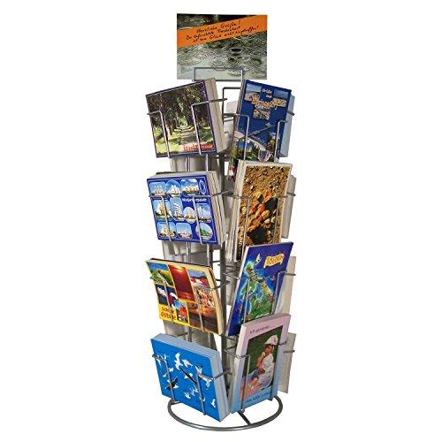 Theken-Kartenständer Postkartenständer für Postkarten 16 Motive drehbar