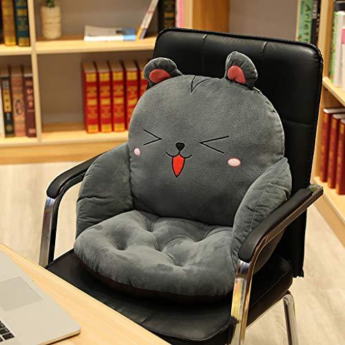 HE-XSHDTT Plüsch Cartoon Einteiliges Stuhlkissen, Cartoon Tier Stuhlkissen Lazy Sofa Tatami Taillenkissen Kissen, Rutschfestes Bürostuhlkissen Weiches Plüschbodenkissen, Für Büro, Zuhause,Mouse