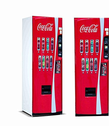Oedim Vinyl Stickers Verkaufsautomat Cola-Cola für Kühlschrank.| Kühlschrank Aufkleber | Verschiedene Maße 185 x 60 cm | Klebstoffbeständig und einfache Anwendung | Stilvoller Design-dekorativer