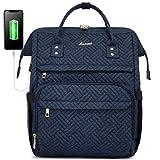 LOVEVOOK Laptop Rucksack Damen 15,6 Zoll, Schulrucksack Daypack wasserdichte, Business Rucksäcke mit Laptopfach & Anti-Diebstahl Tasche, für Reisen Herren, Dunkelblau