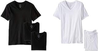 Calvin Klein Men's Undershirts Cotton Classics 3 Pack Slim Fit V Neck Tshirts