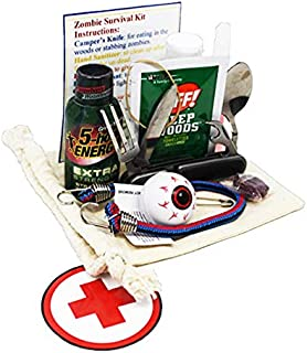 Zombie Apocalypse Essentials Survival Kit. Funny Gift for The Walking Dead or Zombie Survival Lovers.